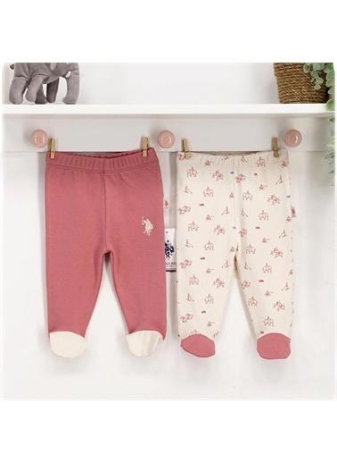 U.S. Polo Assn. U.S Polo Kız Bebek Patikli 2'Li Pantolon Pembe